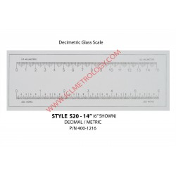 "14"" GLASS SCALE, DECI/METRIC"