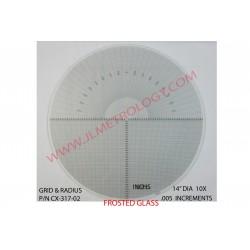 GLASS GRID & RADIUS CHART
