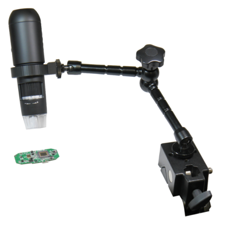 """Articulated 11"""" Arm Stand for MI-HDMI digital microscope with table edge attachment"""