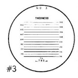 RETICLE 3-FOR 7X COMPARATOR